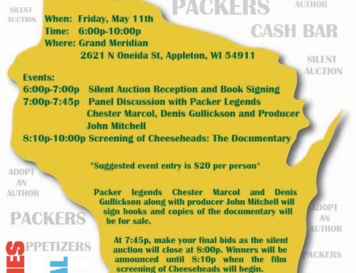 Cheeseheads Read: May 11 Fundraiser for FCBF 2018