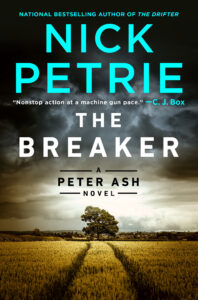 """Book cover for, """"The Breaker"""" by Nick Petrie"""