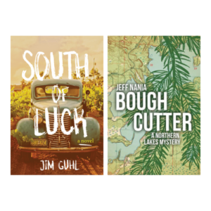 Book covers for, South of Luck and Bough Cutter