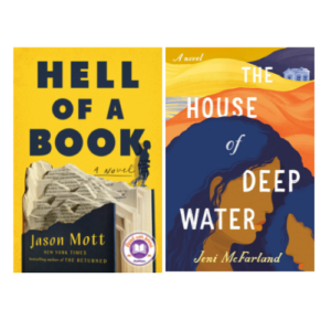 """Book covers for, """"Hell of a Book"""" and """"House of Deep Water"""""""